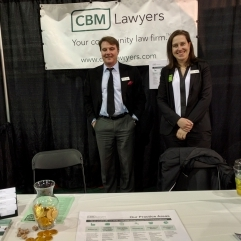 CBM Lawyers booth at the ridge meadows home show